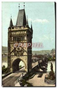 Old Postcard Praha Staromestska Mostecka Vez