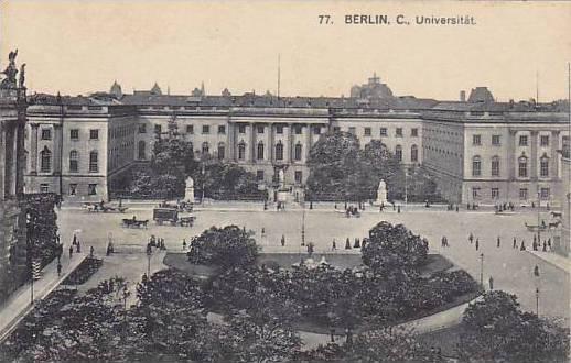 Universitat, Berlin, Germany, 1900-1910s