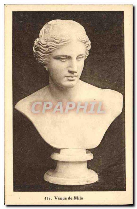 Old Postcard Venus de Milo