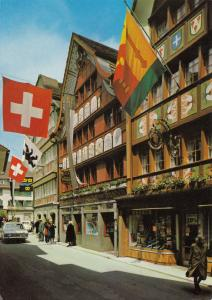 Switzerland, Suisse, Appenzell, Hauptgasse, 1982 used Postcard