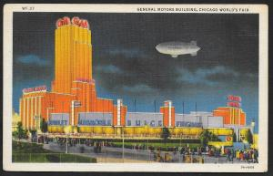 Chicago Worlds Fair 1933-1934 General Motors Building Chicago Used c1933