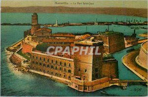 Old Postcard Marseille Fort Saint John