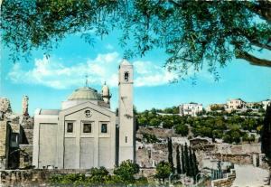 Kingdom of Jordan Bethany Saint Lazarus Church semi modern postcard