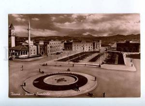 206440 ALBANIA TIRANA Piazza Scanderbe Vintage postcard
