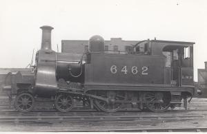 LMS Class 4-4-0 Number 6462 Vintage Train Plain Back Postcard Photo
