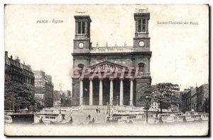 Old Postcard Paris Saint Vincent Church