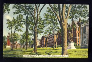 Providence,Rhode Island/RI Postcard, Front Campus, Brown University, 1950!