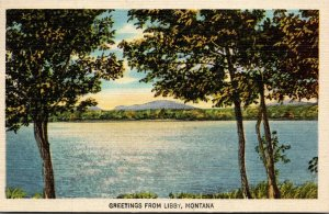Montana Greetings From Libby 1948