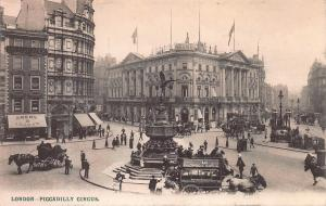 Piccadilly Circus, London, England, Early Postcard, Unused