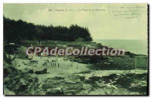 Postcard Ancient Pornic The Beach of the Biroch?re