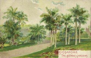 singapore, The Botanic Gardens (1899) Litho Postcard