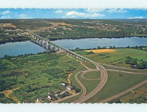 Pre-1980 AERIAL VIEW Fredericton New Brunswick NB AC9429