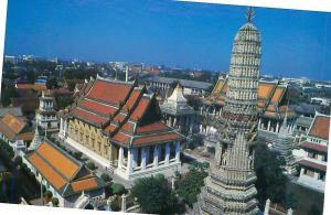 Postcard Pagoda Wat Arun Ratchawararam Temple of Dawn  Thailand   # 3726A