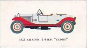Mobil Oil Vintage Trade Card Vintage Cars 1966 No 2 Citroen 11.4 H.P. Caddy 1923
