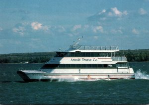 Michigan Macikinac Island Arnold Transit Company Boat To The Island