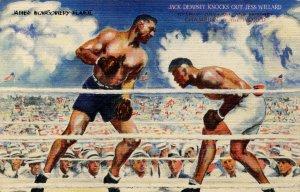 Boxing - Jack Dempsey Knocks Out Jess Willard
