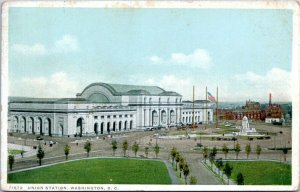 1923 Washington DC Union Train Station Detroit Publishing 71672 Postcard GF