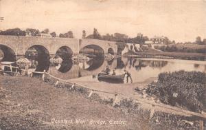 EXETER DEVON UK~COUNTESS WEIR BRIDGE POSTCARD 1911 PMK