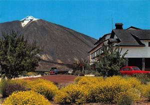 Spain Tenerife Parador de Turismo y El Teide Vintage Cars Postcard