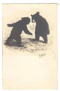 RP; Two bear cubs play fighting, Canada, 00-10s