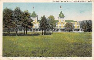 LPS36 Woodstock New Hampshire Deer Park Hotel Vintage Postcard