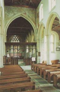 St Andrews Village Church Nave Chancel Pews Lyddington Rutland Postcard