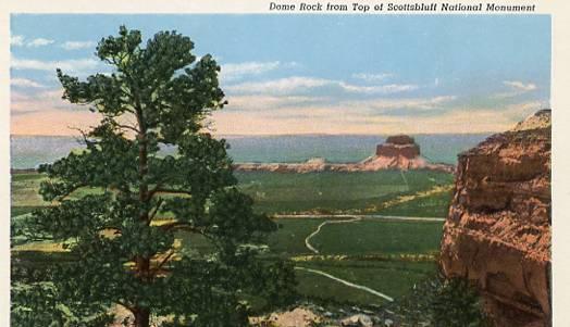 NE - Scotts Bluff, Dome Rock from Scottbluff National Monument