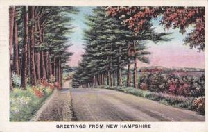 Greetings from New Hampshire - pm 1943 at Lebanon - Linen