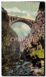 Old Postcard Constantine Sidi Rached Bridge Taken Du Fond Des Gorges