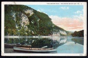 Pennsylvania DELAWARE WATER GAP The Indian Head - White Border