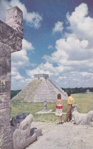 Pan American World Airways, Mayan Pyramids of Chichen Itza, Yucatan, Mexico, ...