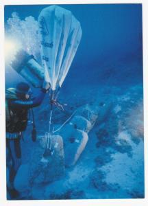 ULUBURUN, Turkey, 2008; Stone Weight Anchors Piled Off, Uluburun Shipwreck