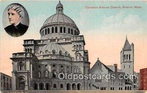 Christian Science Church Boston, Mass, USA Writing on back