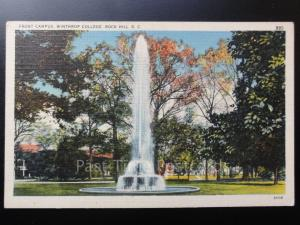USA: Front Campus, Winthrop College, Rock Hill S.C. - Old Postcard