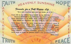 Formula for a full Happy Life, Happy Hearts Club, Aberdeen, Washington,  30-40s