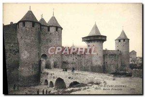 Old Postcard Cite of Carcassonne Main entrance
