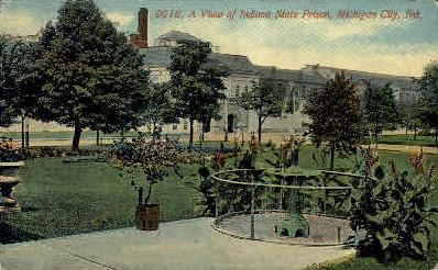 Indiana State Prison Michigan City In Unused Hippostcard