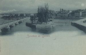 Souvenir de GENEVE , Switzerland , 1890s
