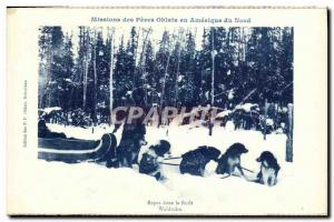 Postcard Old Missions Des Peres Oblates In America North Rest In La Foret Mac...