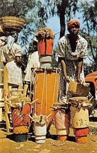 Haiti Post card Old Vintage Antique Postcard Drums for Sale Kenscoff Unused