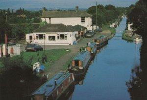 North Oxford Canal Stretton Under Fosse Petrol Station Postcard