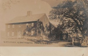 LPS33 Franklin New Hampshire Birthplace of Daniel Webster Postcard RPPC