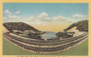 Horseshoe Curve Railroad near Altoona PA, Pennsylvania - Linen
