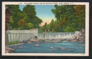 North Carolina colour PC Patterson School Dam near Lenoir, N.C.  unused