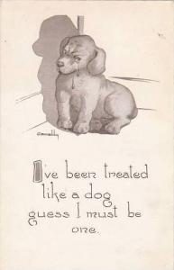 Fred Cavally Dog Series I've been treated like a dog 1912