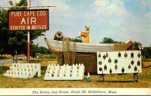 Massachusetts Middleboro Honey Jug House Pure Cape Cod Air Stuffed In Bottles