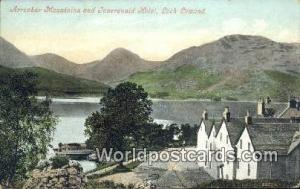 Scotland, Escocia Arrochar Mountains, Inversnaid Hotel Loch Lomond Arrochar M...
