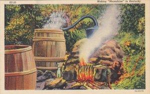 Moonshine Still Making Moonshine In Kentucky 1952 Curteich