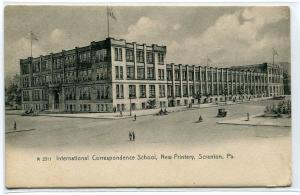 International Correspondence School New Printery Scranton Pennsylvania postcard