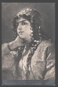 101222 Odalisque NUDE Woman SLAVE HAREM by RICHTER Vintage PC